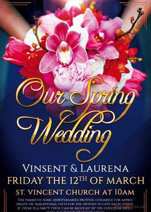 Our Spring Wedding PSD Flyer Template