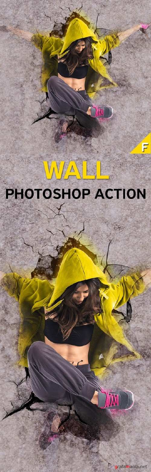Wall Photoshop Action - 16010570