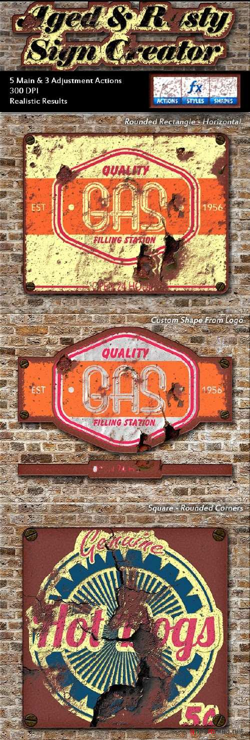 Aged & Rusty Sign Creator - 16015170