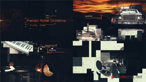 Pixelate Noise Slideshow - After Effects Project (Videohive)