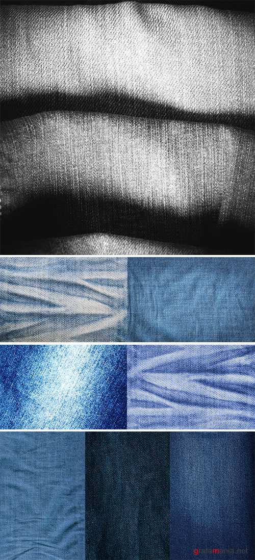 Blue Jeans texture - Stock Image