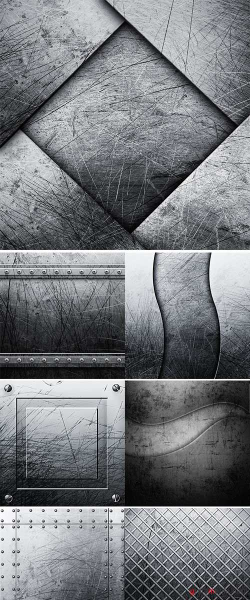 Old Scratched round metal plate texture - Stock Image