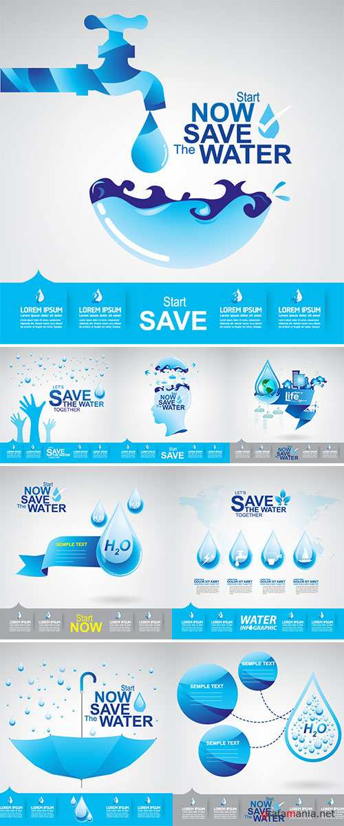 Save The Water Vector Stock
