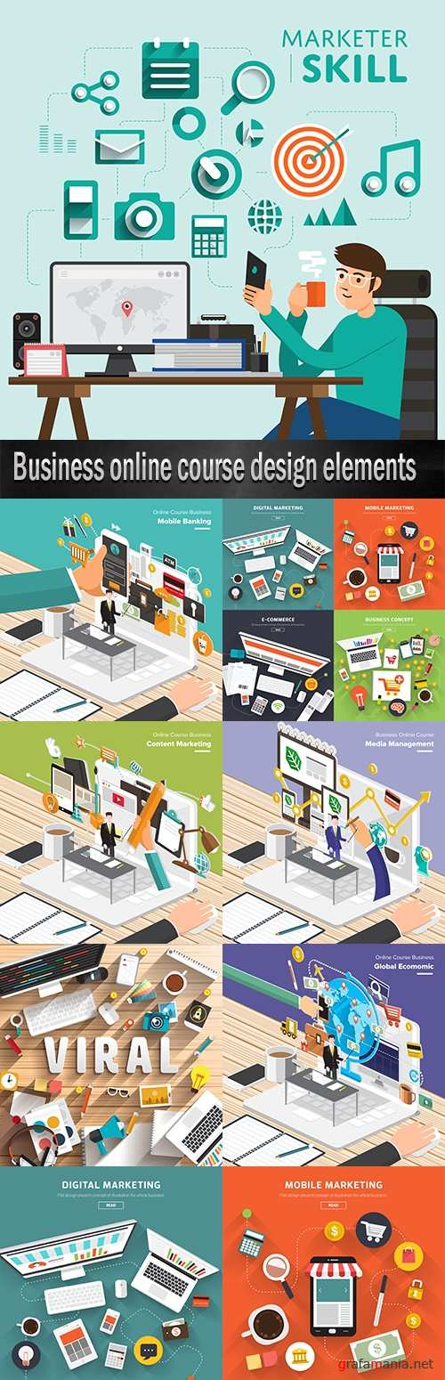 Business online course design elements