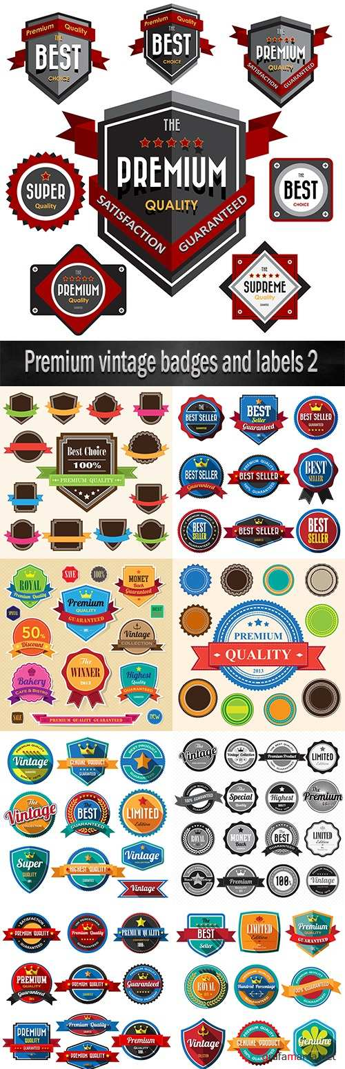 Premium vintage badges and labels 2