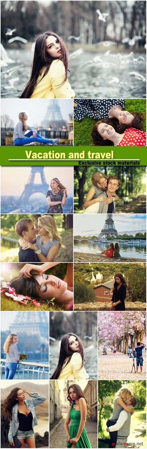 Vacation and travel, people in nature