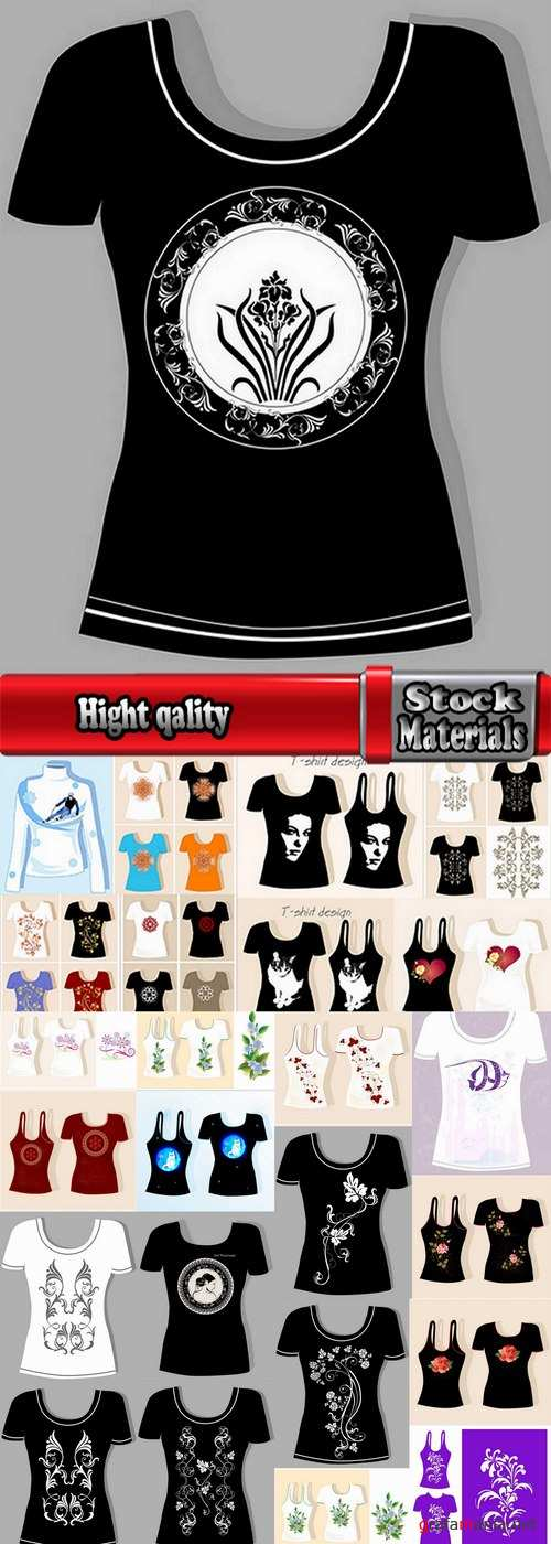 Collection of prints on thing drawing clothes T-Shirt vector image 25 EPS