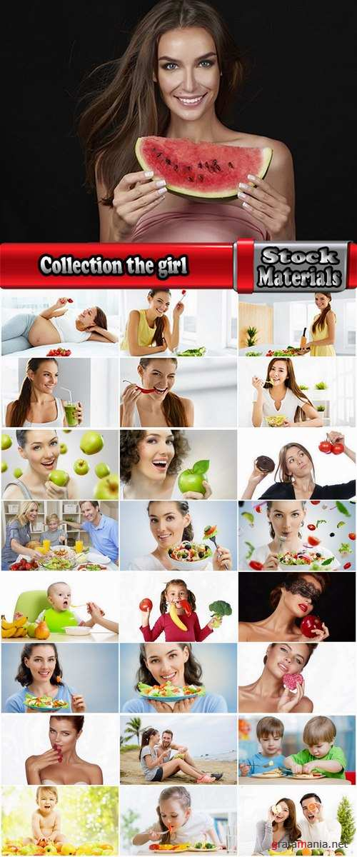 Collection the girl woman eating fruits vegetables healthy food diet 25 HQ Jpeg