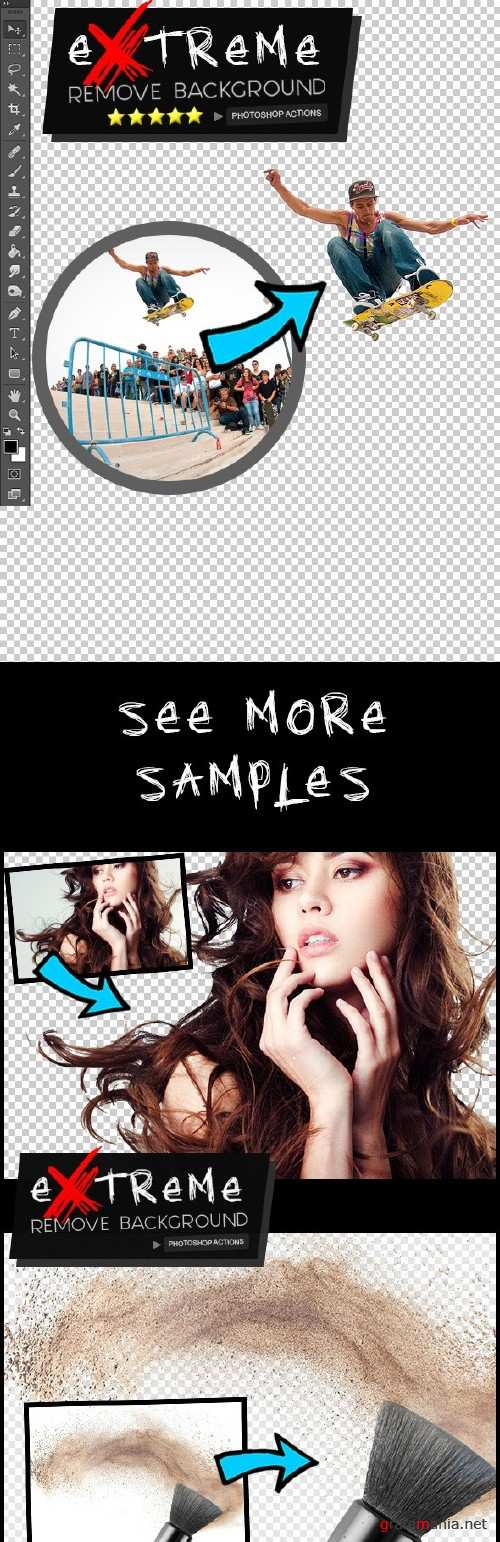 Extreme Remove Background Photoshop Actions -16160920