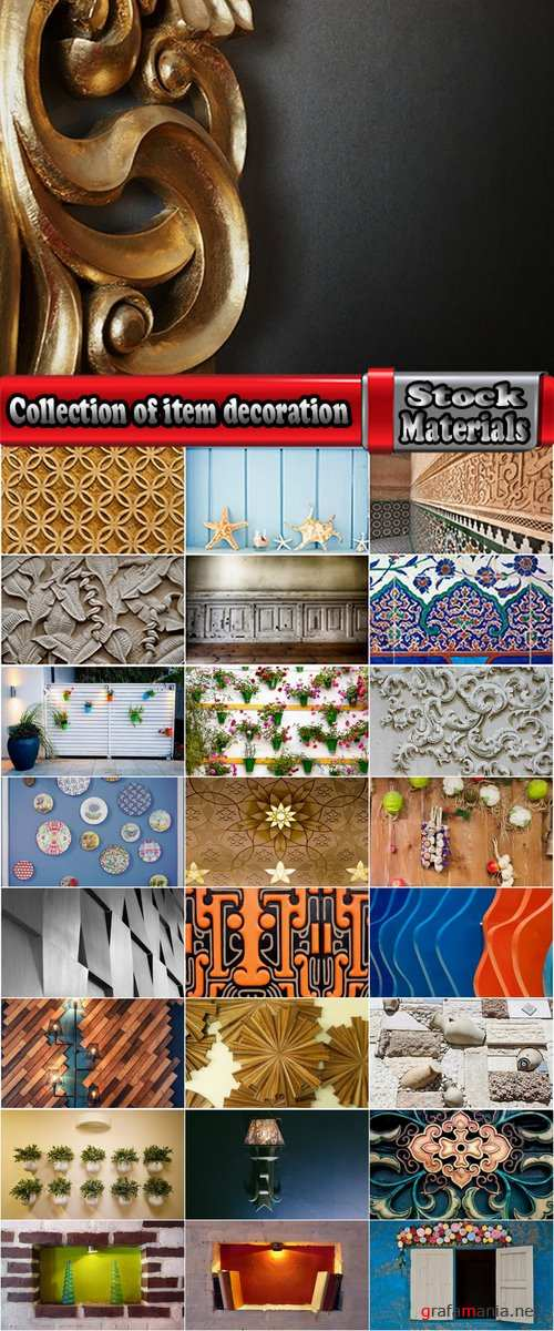 Collection of item decoration the wall interior of the apartment house 25 HQ Jpeg