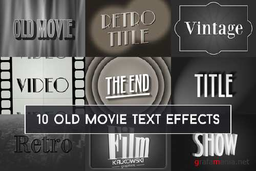 Old Movie Text Effect - 696240