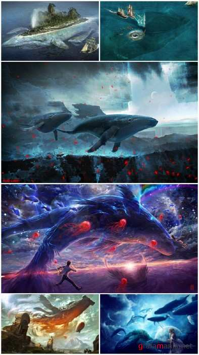 Fantasty Whale wallpapers