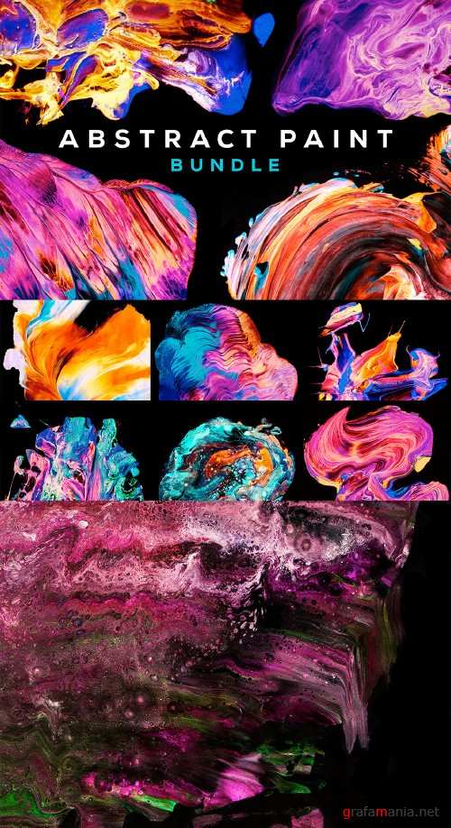Abstract Paint Bundle - 490640