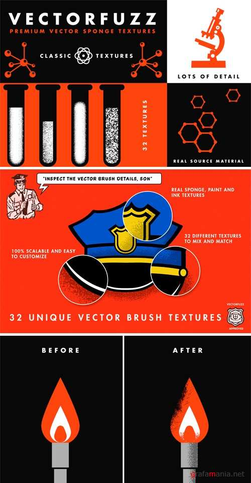 VectorFuzz Illustrator Brushes - 234945