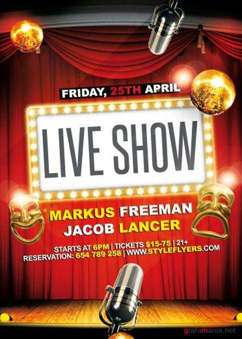 Live Show V3 PSD Flyer Template with Facebook Cover