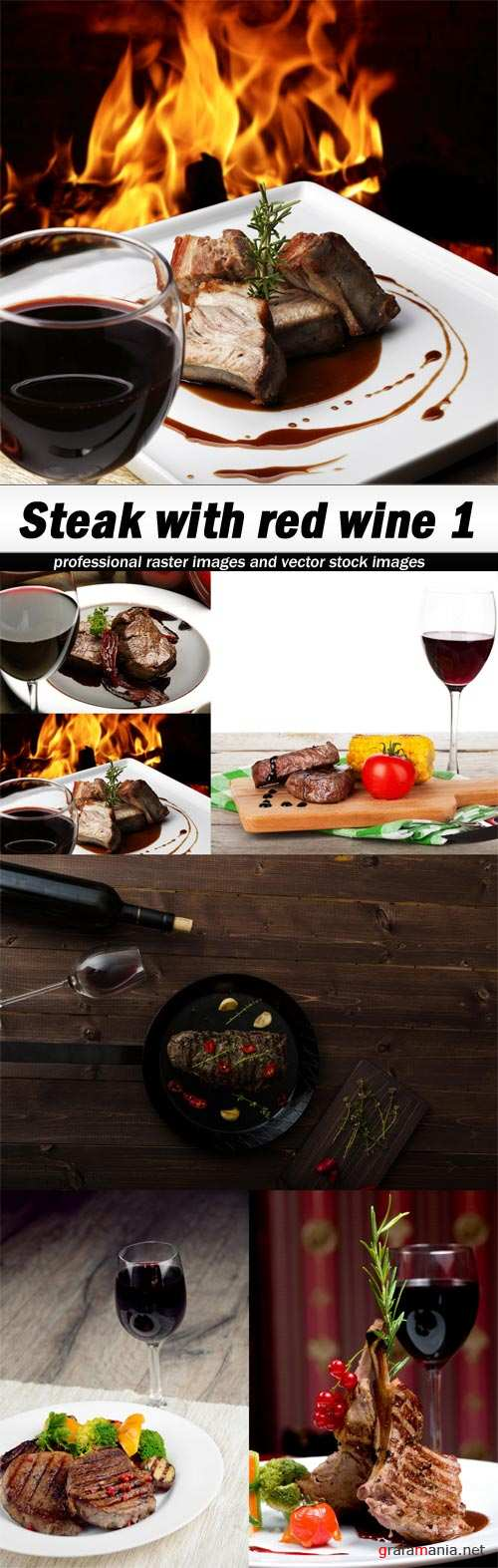Steak with red wine 1-6xJPEGs