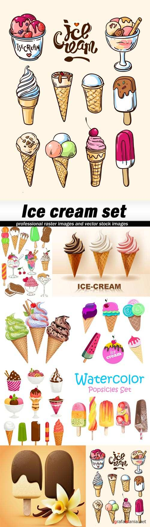 Ice cream set-8xEPS