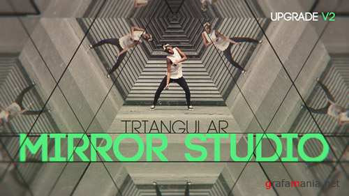 Triangular Mirror Studio - Project for After Effects (Videohive)