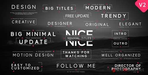 Big Minimal Titles - Project for After Effects (Videohive)
