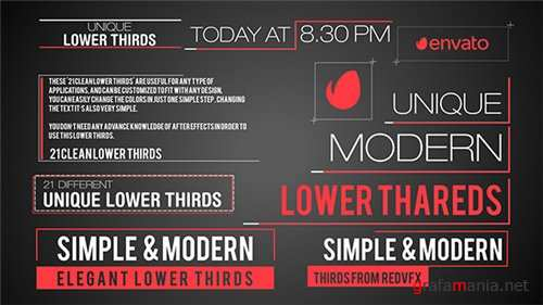 21 Modern Lower Third - After Effects Project (Videohive)