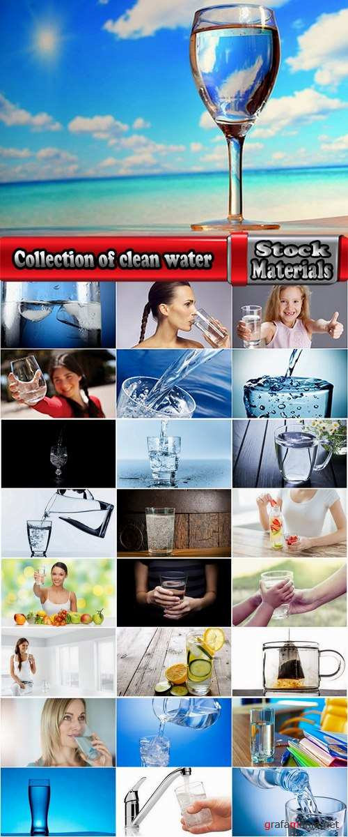 Collection of clean water favor mineral glass bottle container glass 25 HQ Jpeg
