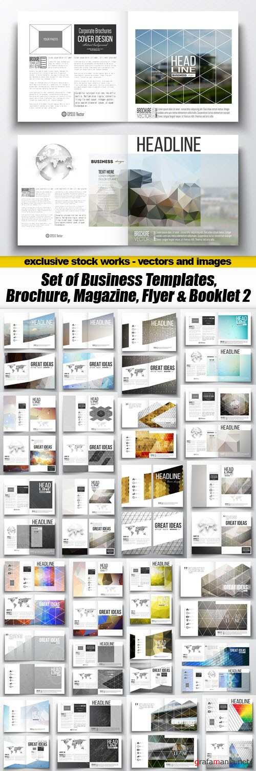 Set of Business Templates, Brochure, Magazine, Flyer & Booklet 2 - 25xEPS