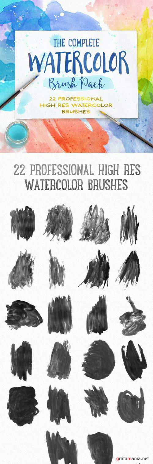 Complete Watercolor Brushes