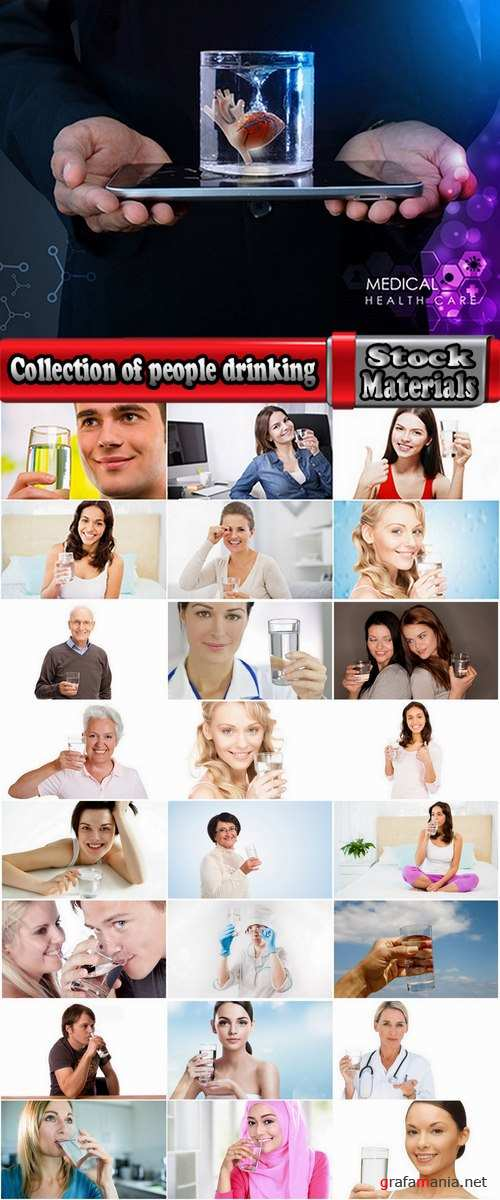 Collection of people man woman drinking a glass of clear water glass of liquid 25 HQ Jpeg
