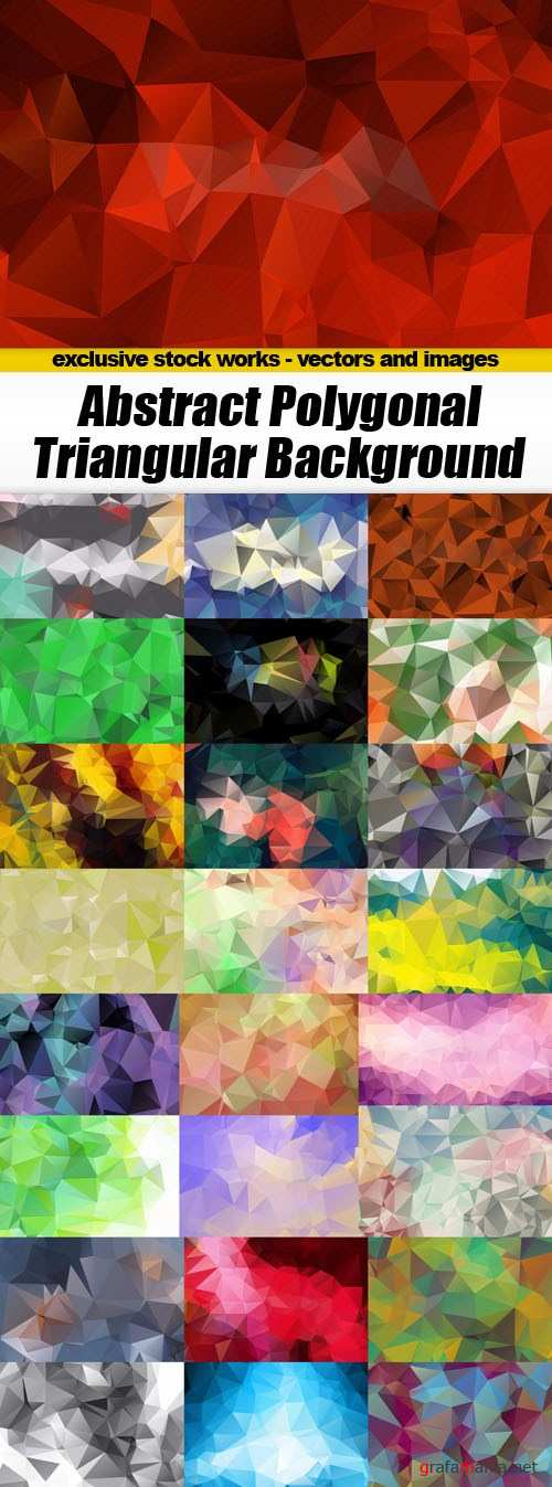 Abstract Polygonal Triangular Background - 25xEPS
