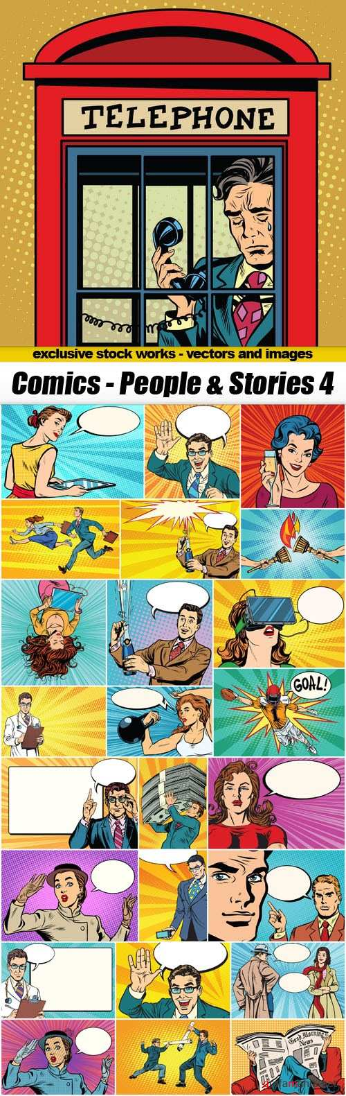 Comics - People & Stories 4 - 25xEPS
