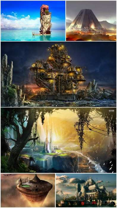 Fantasty building wallpapers