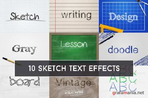 Sketch Text Effect - 677957