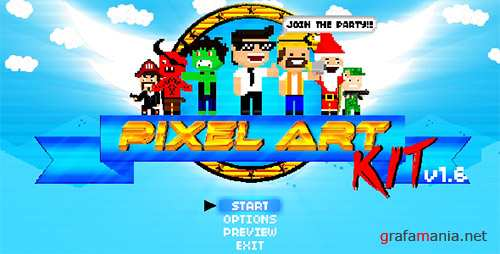Pixel Art Kit V1.6 - Project for After Effects (Videohive)