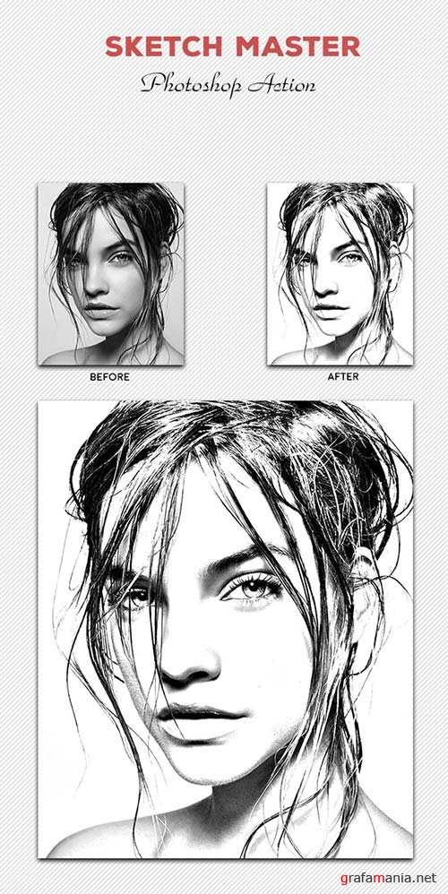 GraphicRiver Sketch Master - Photoshop Action #03