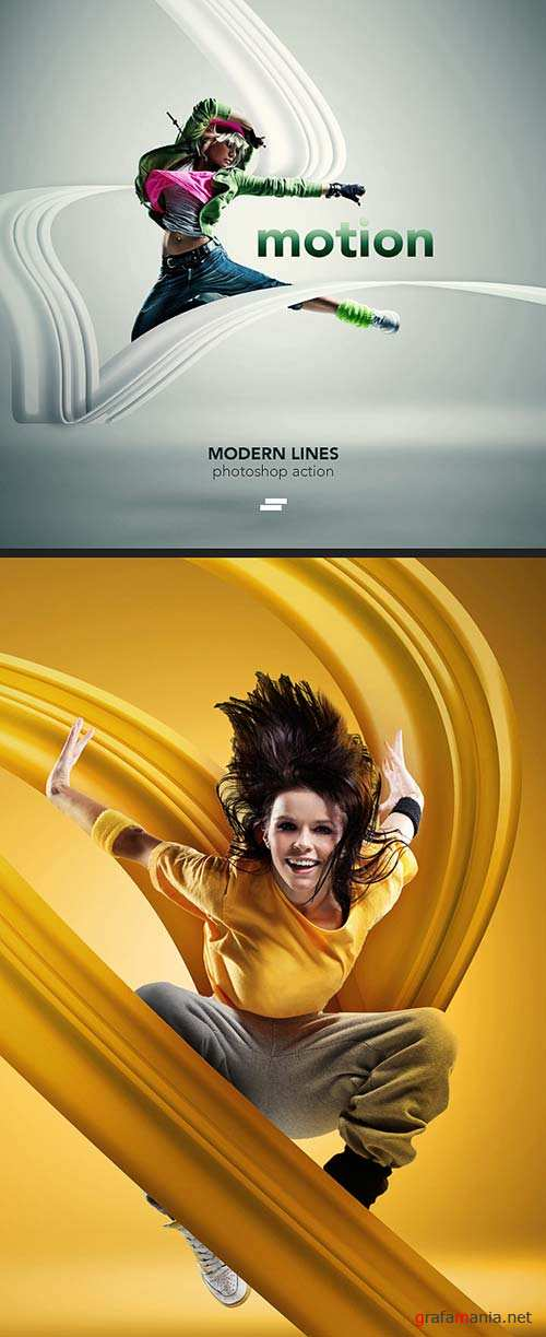 GraphicRiver Modern Lines 1 / Photoshop action