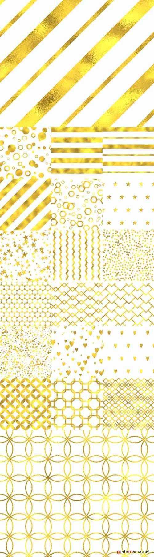 Vector Gold Glittering Foil Seamless Pattern Backgrounds