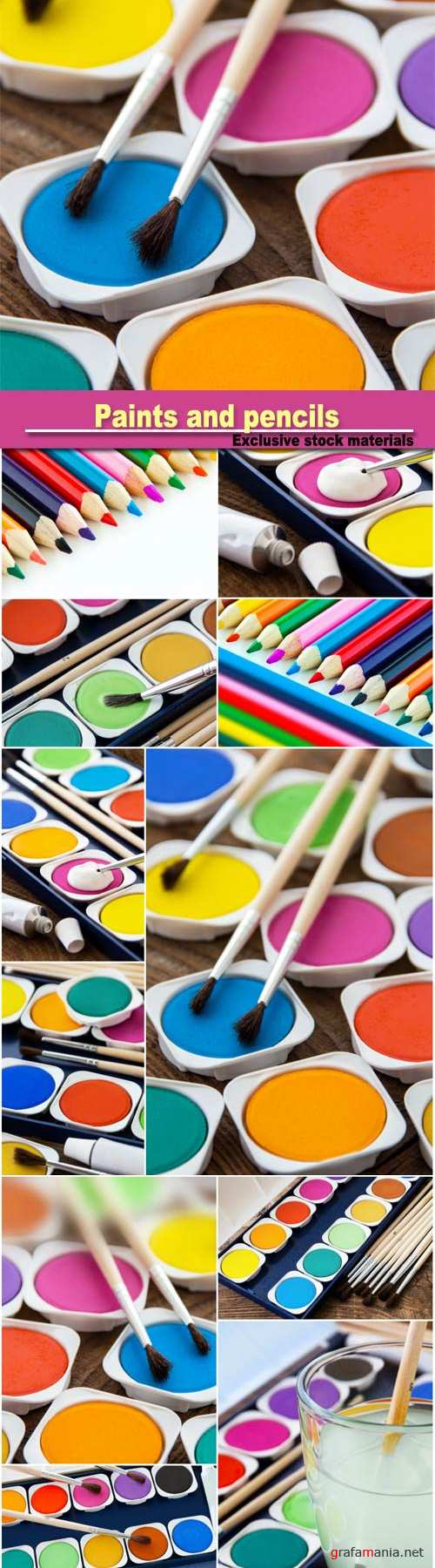 Paints and pencils, art, painting