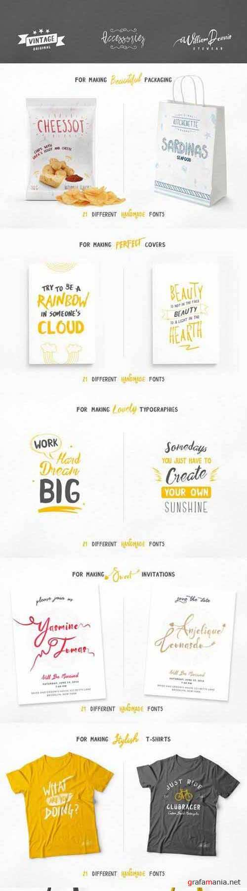 Unique Handcrafted Font Collection
