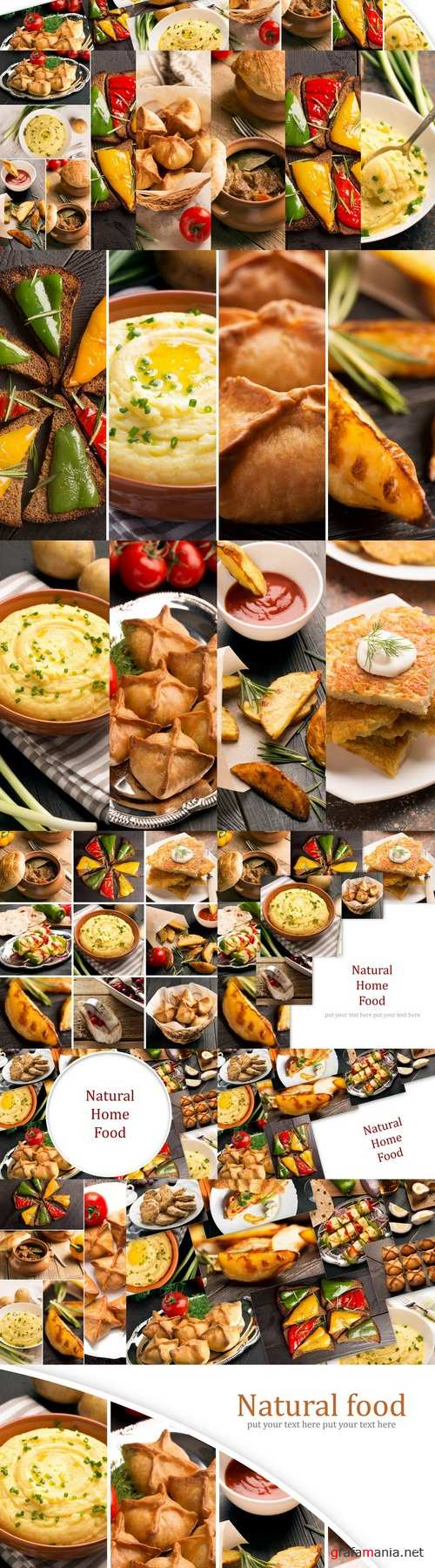 Natural food (photo collage)