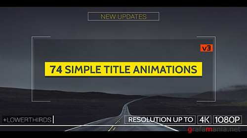 Simple Titles - v3 - Project for After Effects (Videohive)