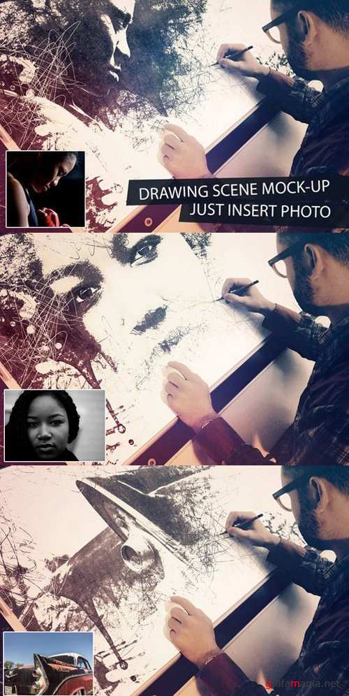 Drawing Scene Mock-Up - 711485