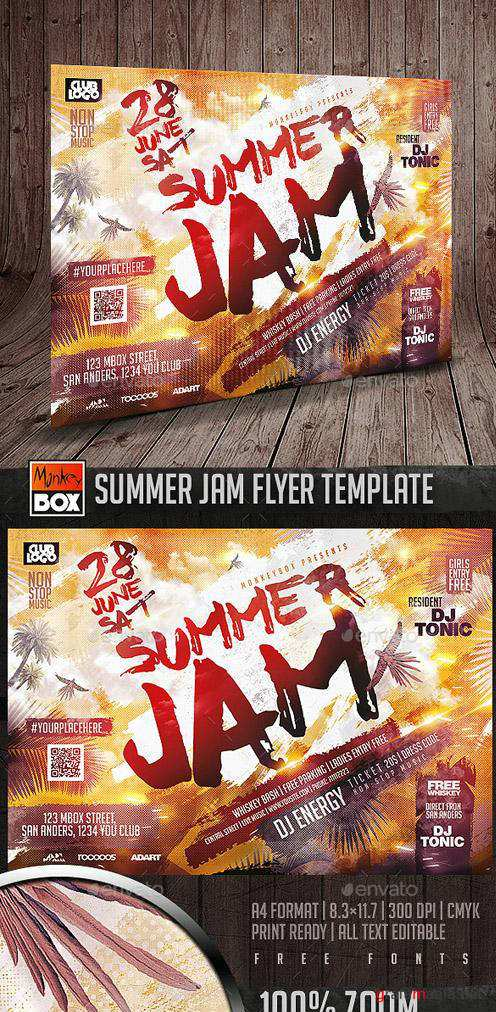 Summer Jam Flyer Template 16393649