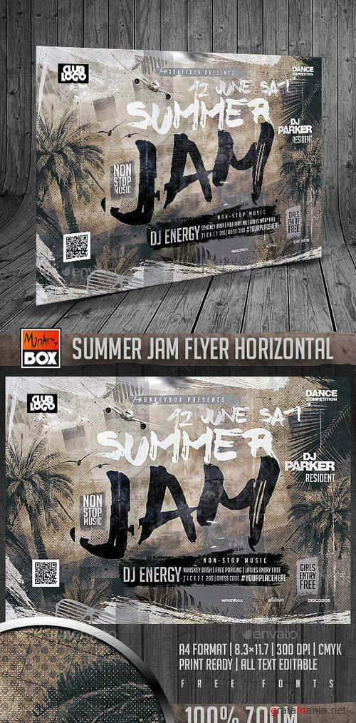 Summer Jam Flyer Horizontal 16393644