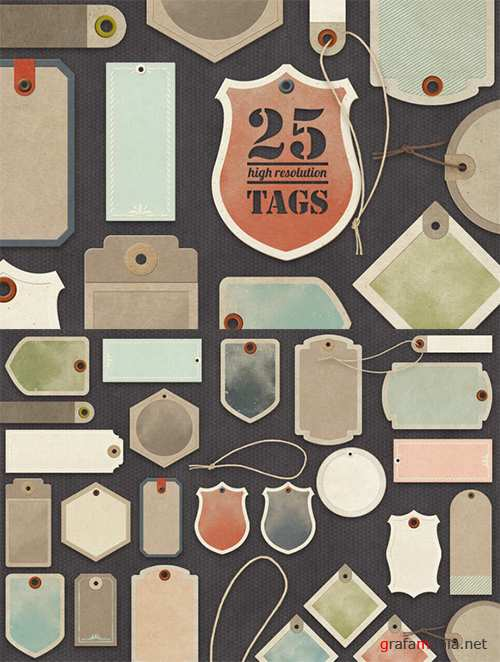 Paper Tags Collection - Creativemarket 19932