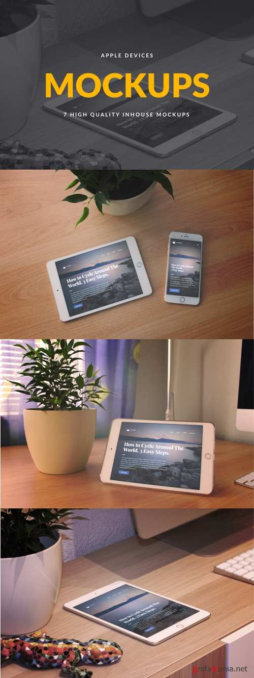 Apple Devices PSD Mockups - 706405