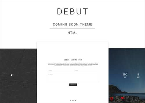 Debut - Coming Soon HTML Template - Creativemarket 507479