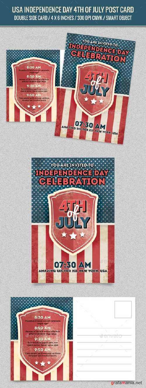 USA Independence Day 4th of July Post Card - 16440226