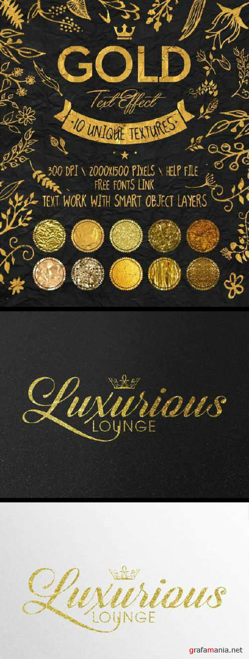 Gold Text Effects - 16392063