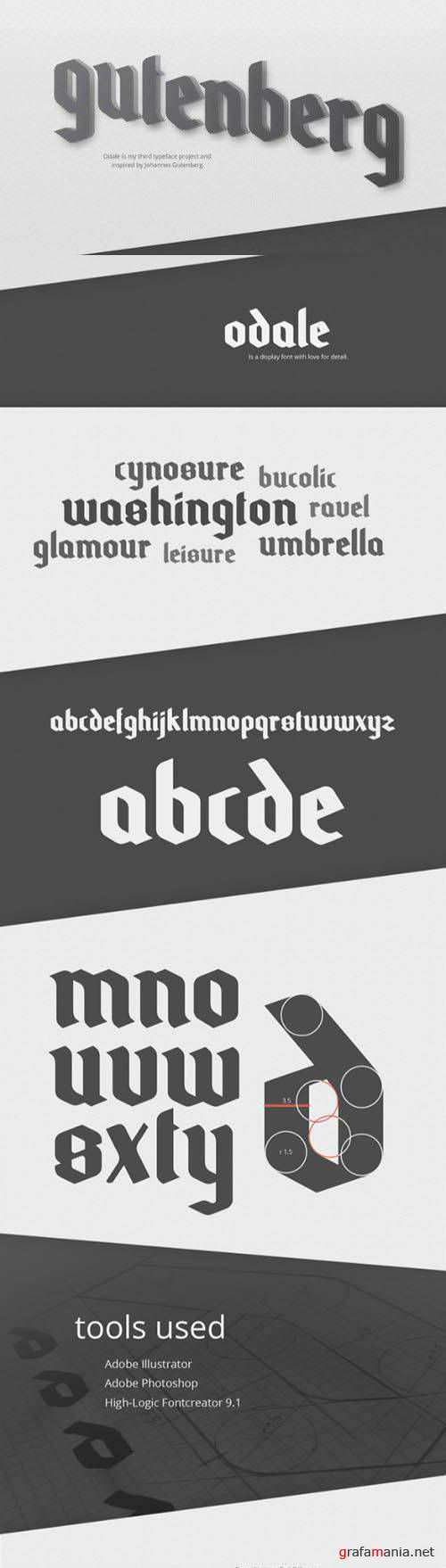 Font - Odale Typeface