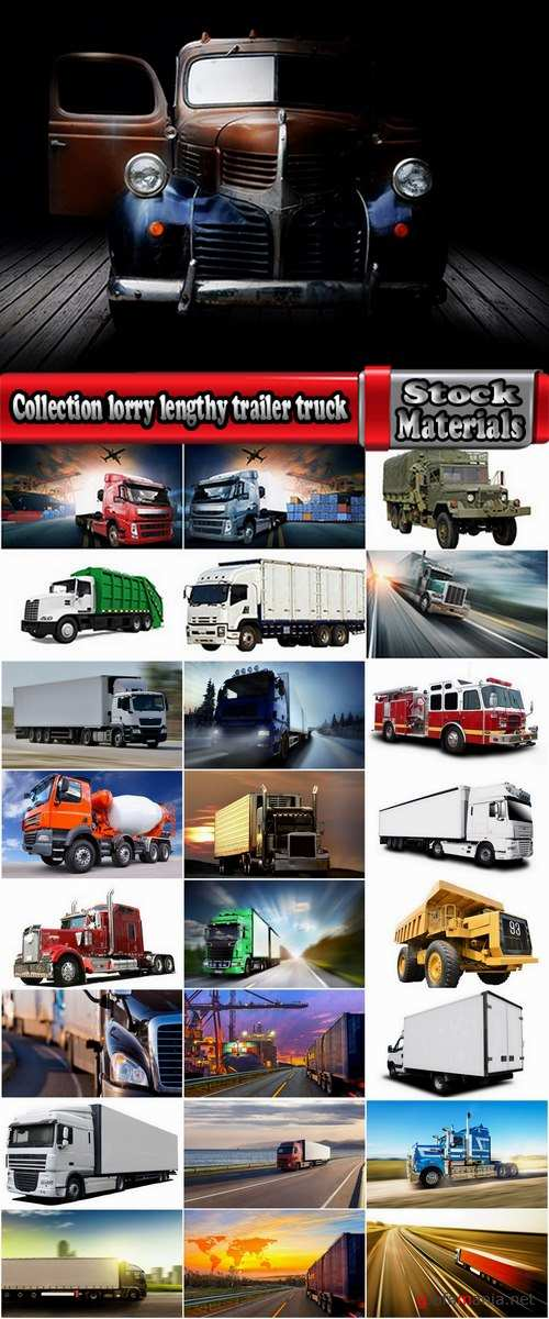 Collection lorry lengthy trailer truck refrigerated trucking and construction 25 HQ Jpeg